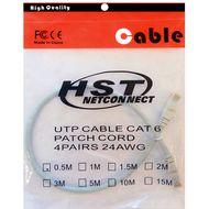 تصویر کابل پچ کورد شبکه CAT6 HST مدل 4PAIRS 24AWG  طول 0.5 متر