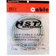 تصویر کابل پچ کورد شبکه CAT6 HST مدل 4PAIRS 24AWG طول 1 متر
