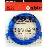 تصویر کابل پچ کورد شبکه CAT6 HST مدل 4PAIRS 24AWG طول 3 متر