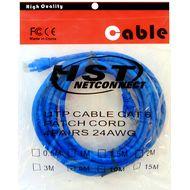 تصویر کابل پچ کورد شبکه CAT6 HST مدل 4PAIRS 24AWG  طول 5 متر