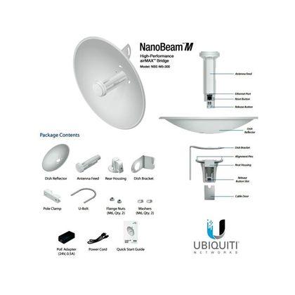 تصویر رادیو وایرلس یوبیکیوتی-Ubiquiti مدل PowerBeam M5-400