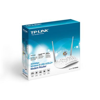 تصویر مودم روتر ADSL2 Plus بیسیم N300 تی پی-لینک مدل TD-W8968
