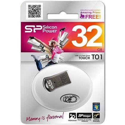 تصویر فلش مموری سیلیکون پاور مدل Touch T01 ظرفیت 32 گیگابایت