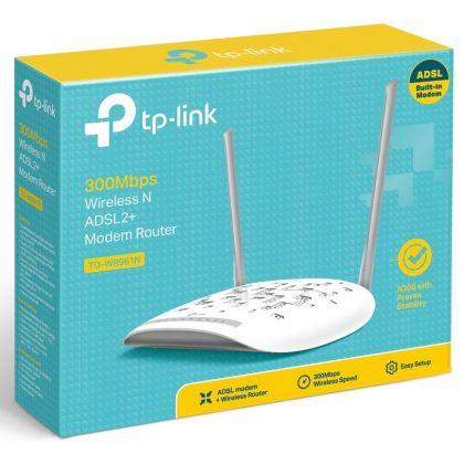تصویر مودم روتر ADSL2 Plus بیسیم N300 تی پی-لینک مدل TD-W8961N ورژن 4.0